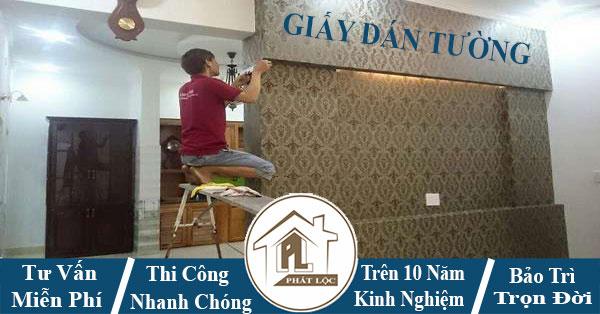 Thợ chuyên nhận thi công dán giấy dán tường đẹp