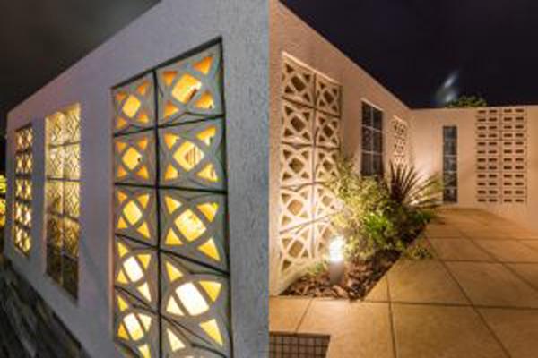 Thiết kế gạch bông gió kết hợp với ánh đèn