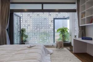 Mẫu gạch thông gió được thiết kế cho phòng ngủ