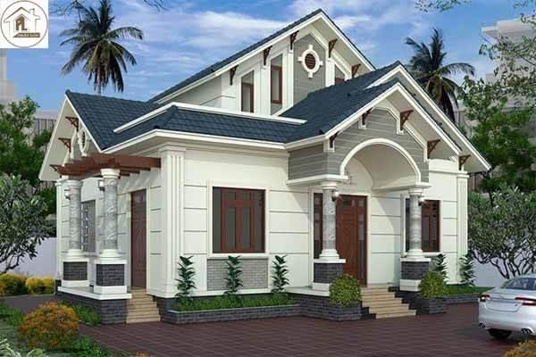 Thiết kế nhà 1 tầng mái thái có diện tích 80m²