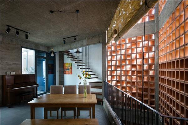 Gạch bông gió được thiết kế để trang trí phòng khách